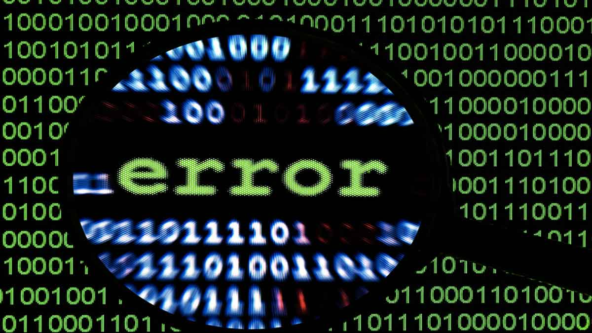 mistake in programming