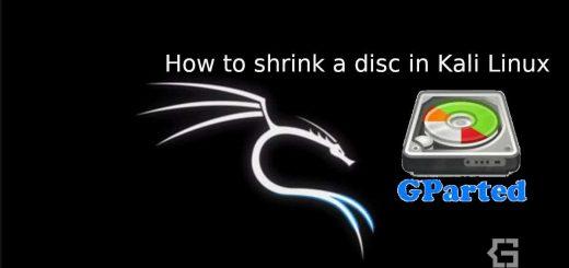 shrink disc in kali linux