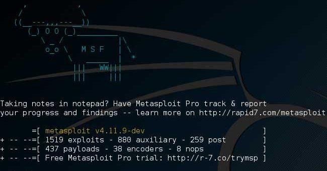 Start with metasploit framework