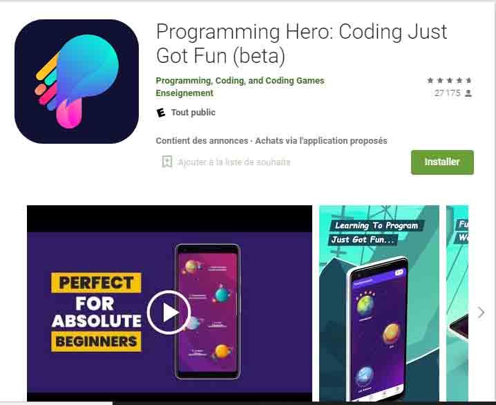 programming hero android app