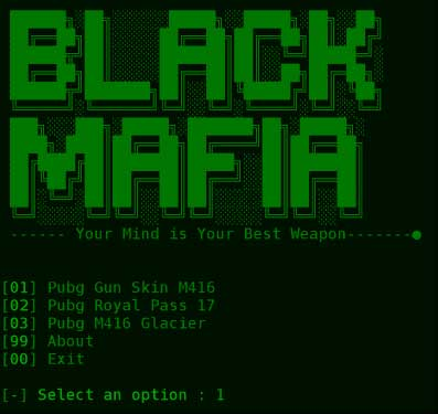 Black Mafia termux tool for phishing