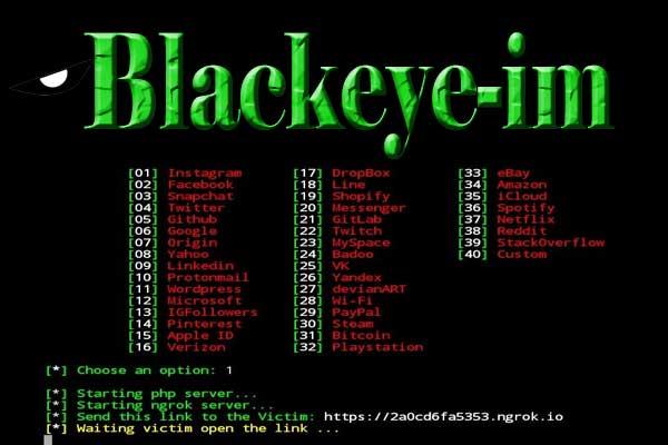 blackeye best termux hacking tool for phishing